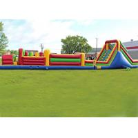 Long Outdoor Assault Course / Inflatable Obstacle Course With Waterproof Material