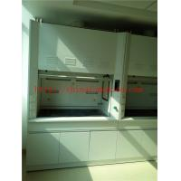 Alkali And High Temperature  Resist All Steel Fume Hood With Third Level Air Exhaust / Tempered Glass Window