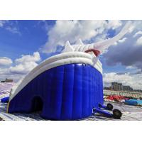 Quality Giant Shark Commercial Inflatable Water Slides / Triple Lanes Adults Water Slide for sale