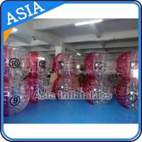 Wholesale Exciting Half Transparent Inflatable Bubble Ball Suit For Football Soccer Game from china suppliers