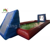 Wholesale Giant Adults Inflatable Football Field / 0.55mm Blue Outdoor PVC Blow Up Football Pitch from china suppliers
