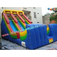 Wholesale 1000D Big Commercial Inflatable Slide ,5.5L Colorful Outdoor Summer slides from china suppliers