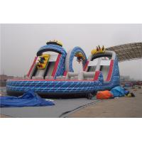 China Ourdoor Playground Big Kid Large Inflatable Slide With Obstacles And Climbing Wall on sale