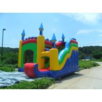 China Colorful Kids Commercial Bounce Houses With Slide , fire retardant on sale