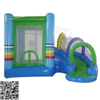 Wholesale Little Children Play Pony Inflatable Bounce House With Slide ODM / OEM Acceptable from china suppliers