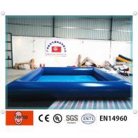 China Dark blue Inflatable above ground pools / swimming pool for kids water games on sale