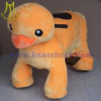 Wholesale Hansel coin operated electronic plush motorized animals from china suppliers