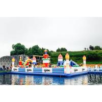 Wholesale Airtight Kids Game Inflatable Fun City Castle With Slide Printed Logo from china suppliers