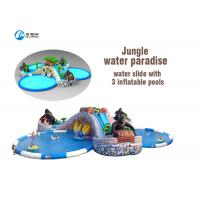 Wholesale Durable Giant Pool Water Slides Waterproof Inflatable Jungle Water Paradise from china suppliers