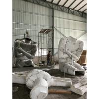 China Stainless Steel Famous Abstract Sculptures / Body Cast Sculpture For Outdoor Decor on sale