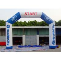 Wholesale Commercial Inflatable Start Finish Line Hire 0.55 Mm PVC Tarpaulin Material from china suppliers