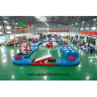 Wholesale Mini Size 20 x15M Blue and White Inflatable Aquatic Sport Park Fun Inflatable Aqua Park from china suppliers