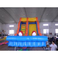 Wholesale Inflatable Water Slides, Giant Beach Slide with Wooden Stairs, Hippo Slide from china suppliers