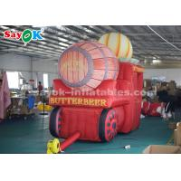 Wholesale 210D Oxford Cloth	Inflatable Holiday Decorations Halloween Pumpkin Carriage from china suppliers