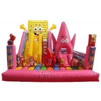 Wholesale 7 X 6m Size Inflatable Bounce House Air Bouncer SpongeBob Theme WSC-275 from china suppliers