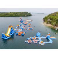 TUV Inflatable Water Park Aqua Park Island For Beach , Sea , Ocean