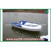 Wholesale Blue / White Heat Sealed PVC Inflatable Boats Water Racing Rigid Waterproof from china suppliers