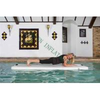 Wholesale Grey Top Portable Inflatable Yoga Mat On Water 220x85x15cm Eco Friendly from china suppliers