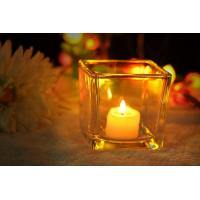 Wholesale 7 oz Square Thick modern glass candle holders / 230ml glass jar candle holders from china suppliers