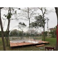 China Hotel Clear Inflatable Bubble Tent , Outdoor Inflatable Transparent Tent For Camping on sale