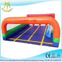 China Hansel commercial inflatable racing game for kids inflatable field for children on sale