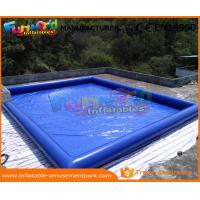 Wholesale 0.9mm PVC Tarpaulin Inflatable Water Pools Blue Water Blow Up Pool Custom Logo from china suppliers