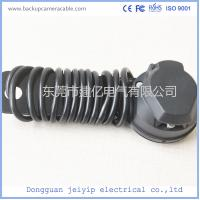 Wholesale Black Trailer 7 Pin Extension Spiral Power Cable Cord For Rear View Backup Camera from china suppliers