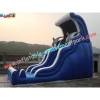 Wholesale Giant Dolphin Commercial Inflatable Slide , 8.5m Inflatable Slide Games from china suppliers