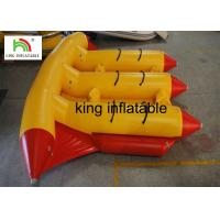 China Amusement Water Inflatable Fly Fishing Boat Inflatable Banana Boat For Surfing Games on sale