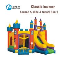 Wholesale Popular Inflatable Classic Bouncer Inflatable Bouncy Castle with Tunnel for Sale from china suppliers