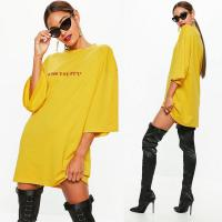 Wholesale Yellow Oversized T Shirt Dress For Women from china suppliers
