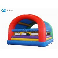 China waterproof safety inflatable jumping house with cover on sale