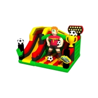 inflatable football bouncer house with slide soccer castle jumping trampoline Commercial inflatable football slide with
