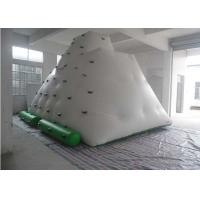 China Funny Large Inflatable Water Toys , 0.55 - 0.9mm PVC Tarpaulin Inflatable Iceberg With Manual / Blower on sale