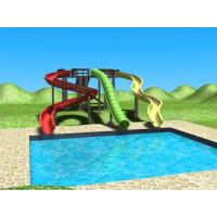 Wholesale Outdoor Water Playground Sliding Board , Colorful Adult / Kids Body Slide from china suppliers