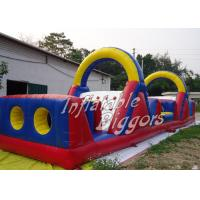 Leadless Inflatable Obstacle Course Double Stitch , Outdoor Inflatables For Kids