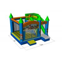 Customized 0.5mm PVC Inflatable Bounce House With Slide Combo