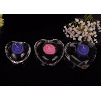 Wholesale High White Transparent glass tealight candle holders for wedding centerpieces , Heart Shape from china suppliers