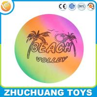 Wholesale cheap inflatable color rainbow painting beach ball from china suppliers