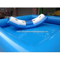 China Small Light Blue Inflatable Water Pool Toys For Water Totter , PVC Tarpaulin on sale