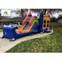 Wholesale Colorful Single Lane Inflatable Bounce House With Slide Logo Printed from china suppliers