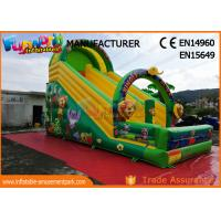 Quality Printed Inflatable Jungle Slide / Commercial Inflatable Bounce House for sale
