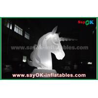Wholesale Full White Oxfiord Cloth Inflatable Horse Unicorn With LED Light from china suppliers