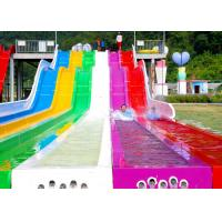Wholesale Holiday Village Rainbow Water Slide / High Speed Slide 1 Year Warranty from china suppliers