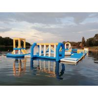 Hungary Inflatable Water Sports Park / Kids Blow Up Water Park For Lake for sale