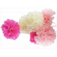 Pink Tissue Paper Pom Pom Flowers Honeycomb Decorations 100
