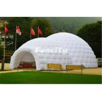 China Exhibition Show Double Inflatable Air Tent Dome Large Inflatable Lawn Tent on sale