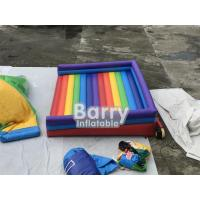 Rainbow Inflatable Jumping Bed Inflatable Bouncer Funny Outdoor Inflatable Sport Games For Playground