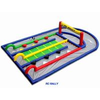 China 0.55mm Plato PVC Inflatable Remote Control Mini Race Track For Children Play on sale