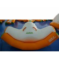 Orange And White Inflatable Rocker With Single Tube For Water Games Amusement